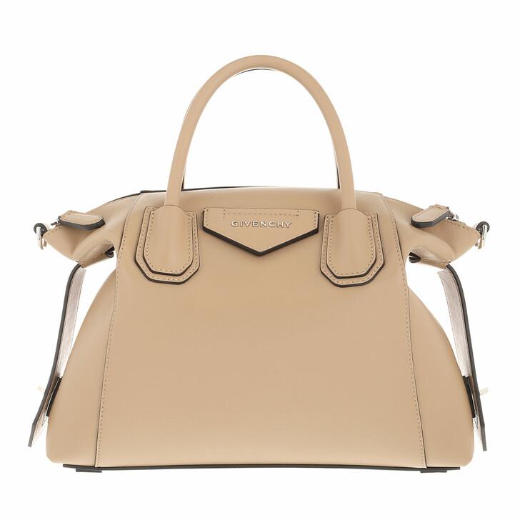 bags, Givenchy, Small Antigona Crossbody Bag Soft Smooth Leather Beige Cappuccino