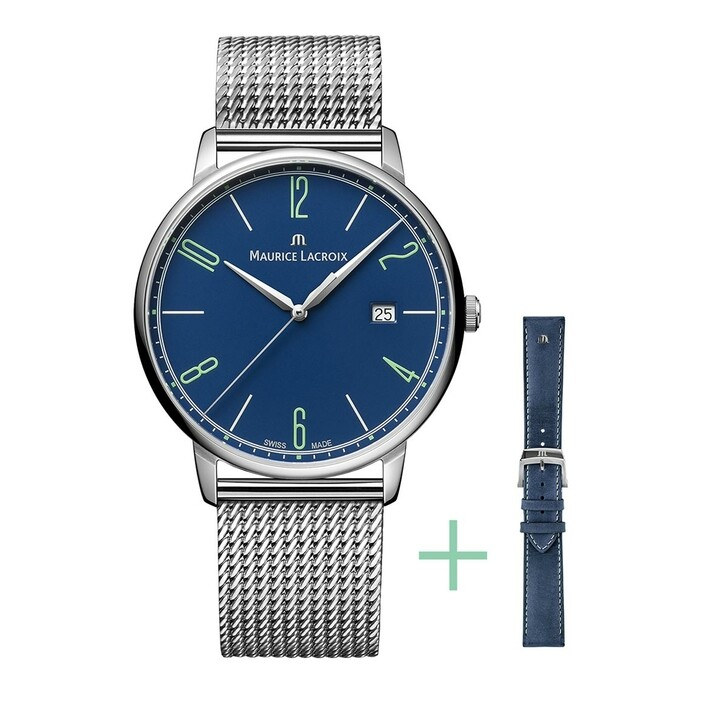 watches, Maurice Lacroix, Watch Eliros Strap-Promotion Blue