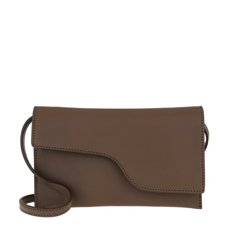 Handtasche, ATP Atelier, Ulignano Clutch Khaki Brown