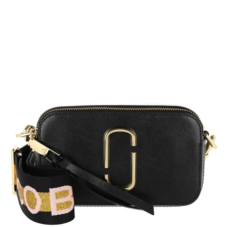 Handtasche, Marc Jacobs, Logo Strap Snapshot Small Camera Bag Leather New Black