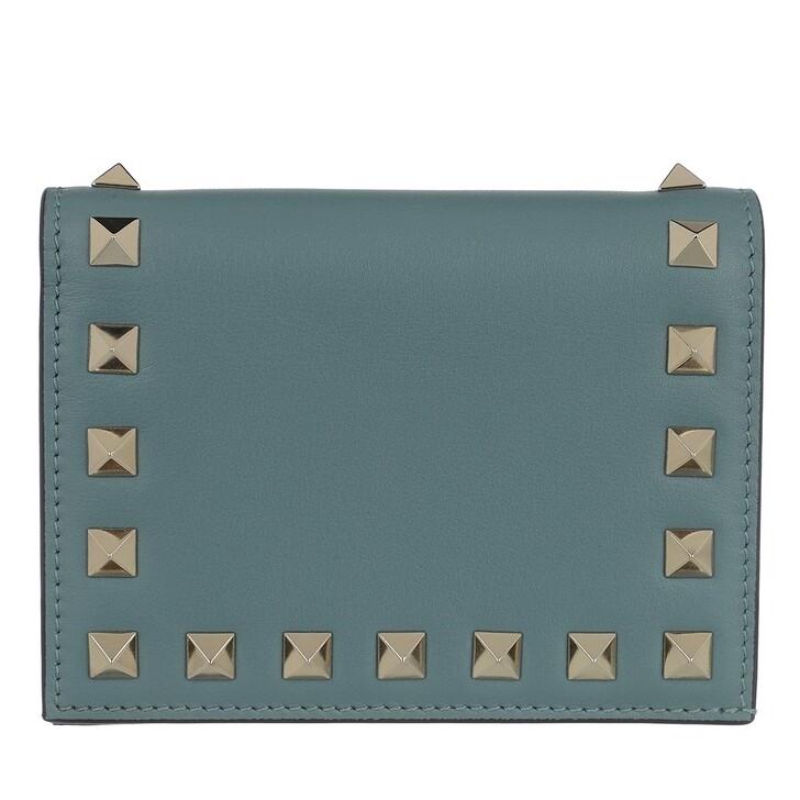Geldbörse, Valentino Garavani, Rockstud Small Wallet Blue