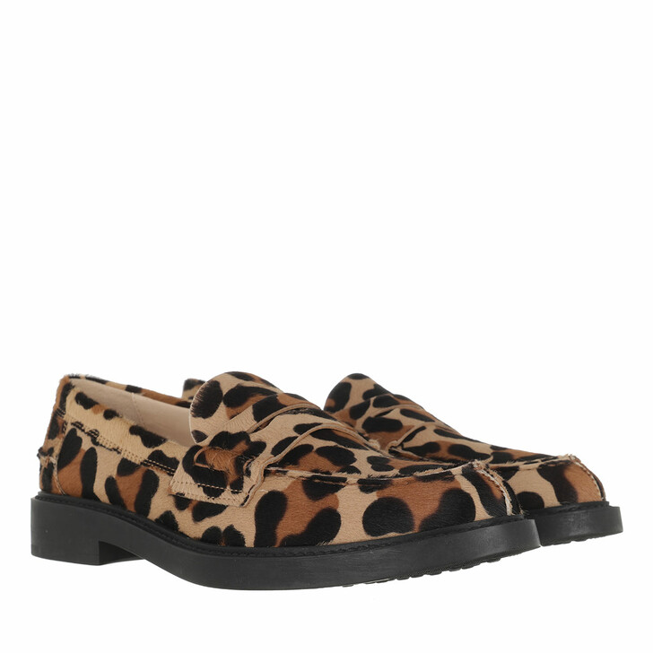 Schuh, Tod's, Loafers Leo Print Brown
