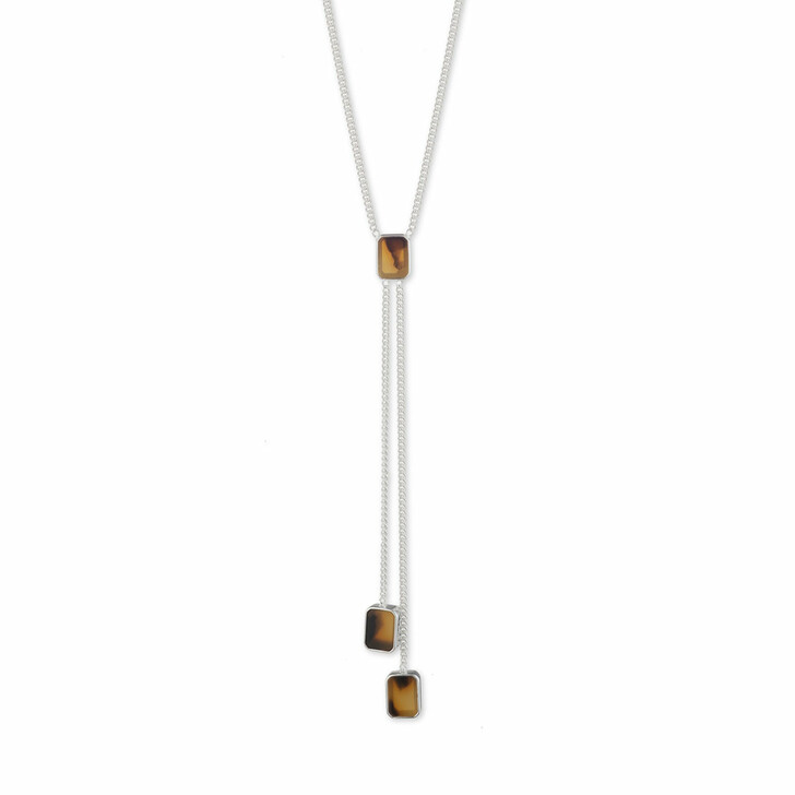 """necklaces, Lauren Ralph Lauren, Necklace 16"""" Tort Y Neck/Tort Silver"""