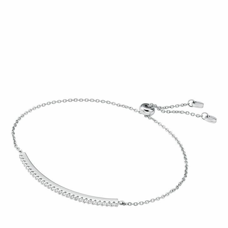 Armreif, Michael Kors, Sterling Silver Pavé Bar Slider Bracelet Silver