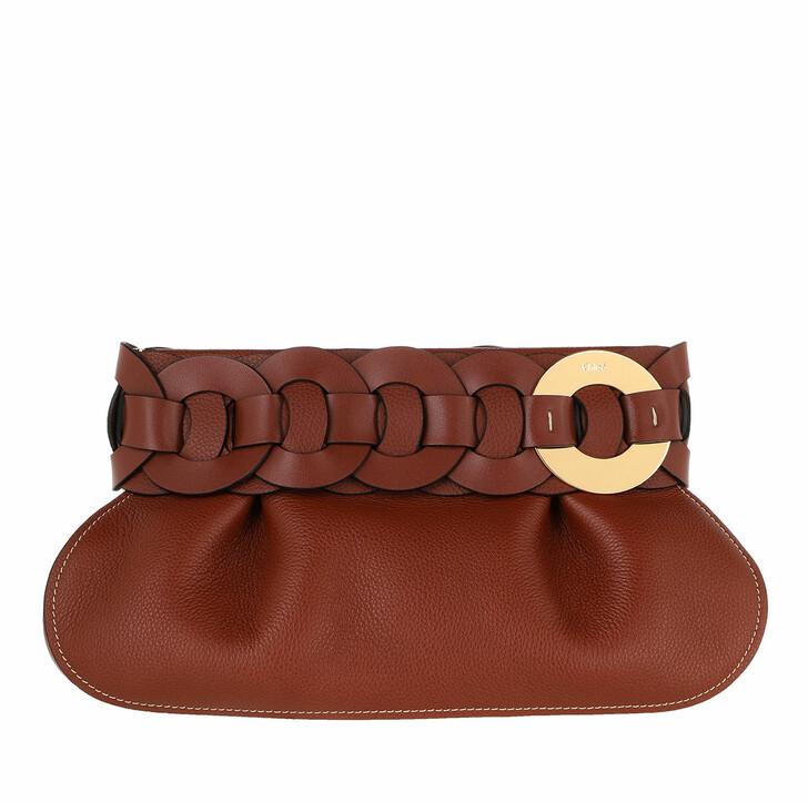 Handtasche, Chloé, Darryl Clutch Leather Sephia Brown