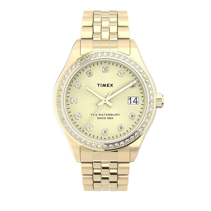 Uhr, Timex, Waterbury Legacy Crystal 34mm Gold
