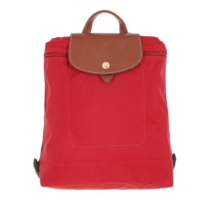 bags, Longchamp, Le Pliage Original Backpack  Red