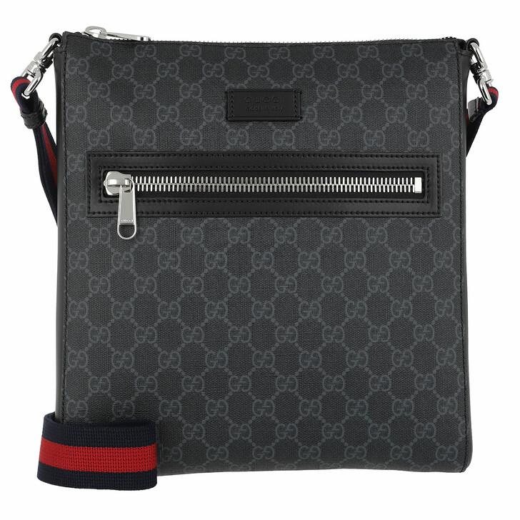 Handtasche, Gucci, GG Supreme Messenger Black
