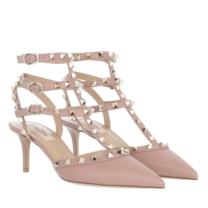 Schuh, Valentino Garavani, Rockstud Ankle Strap Pumps Poudre