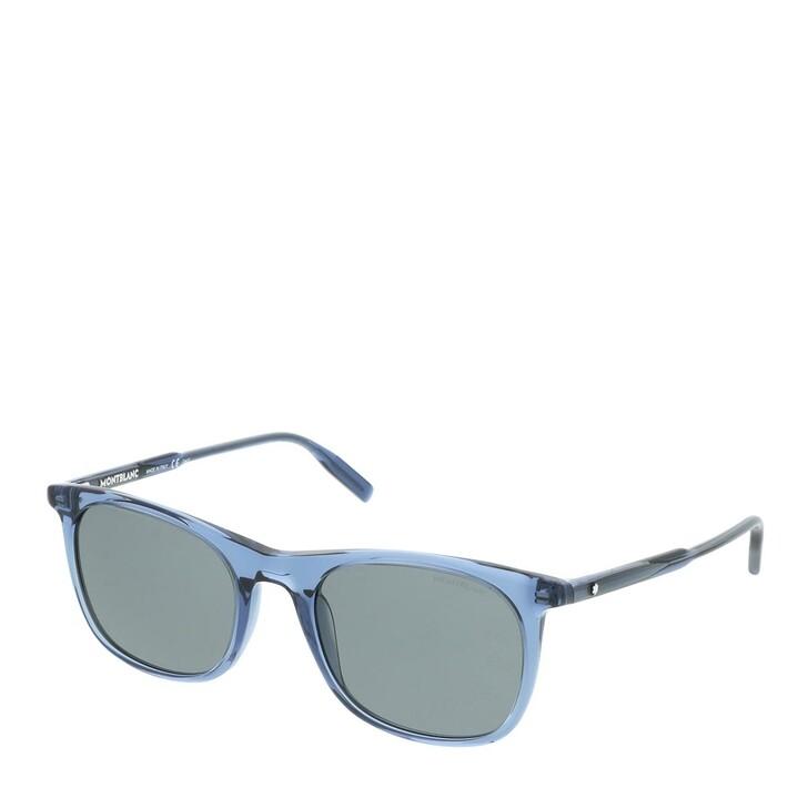 Sonnenbrille, Montblanc, MB0007S-004 53 Sunglass MAN ACETATE BLUE