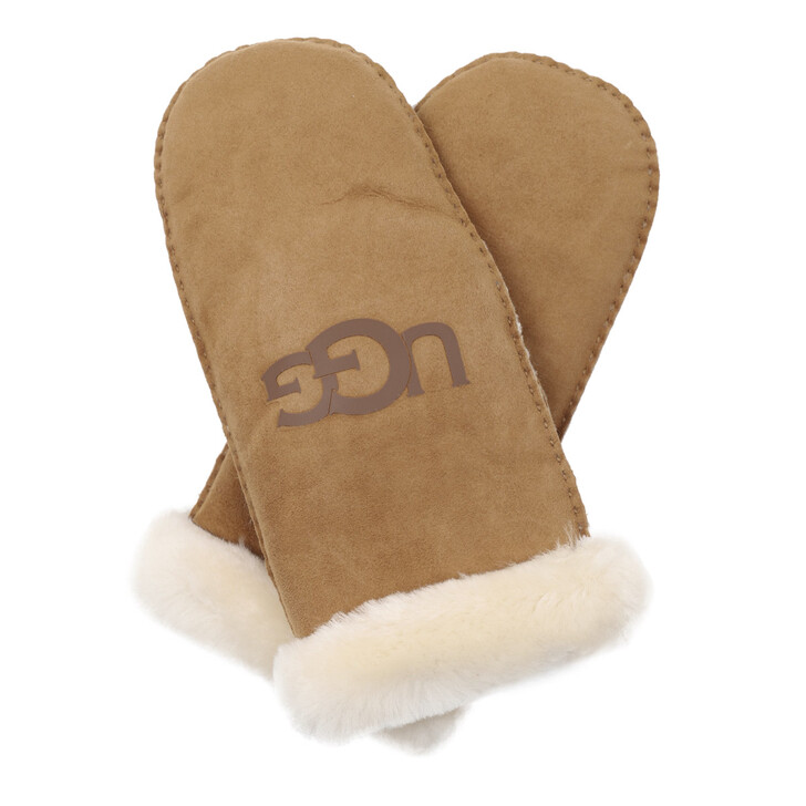 Handschuh, UGG, W Sheepskin Logo Chestnut