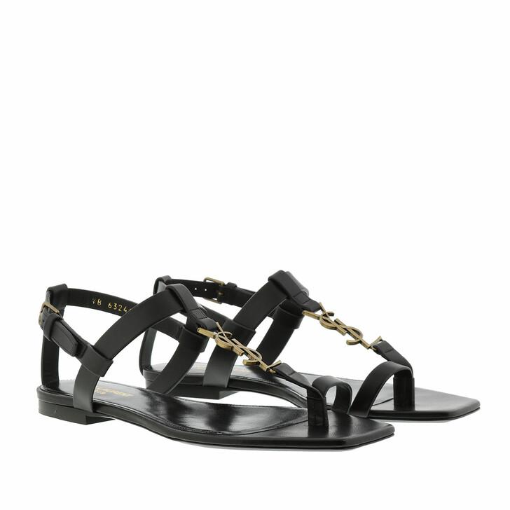 shoes, Saint Laurent, Sandals Black