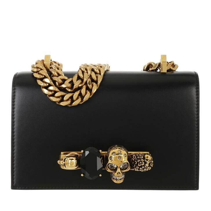 bags, Alexander McQueen, Mini Chain Jewell Crossbody Bag Black
