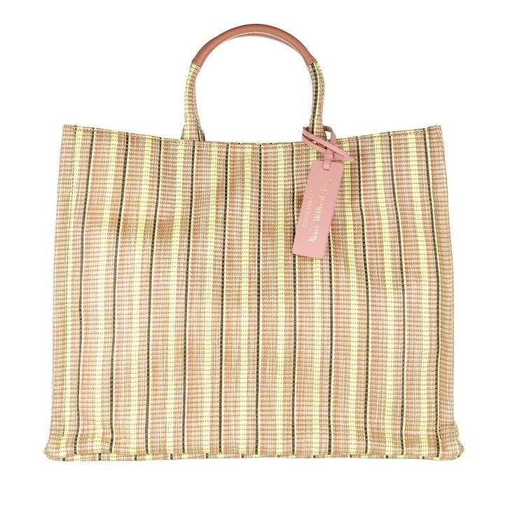 Handtasche, Coccinelle, Handbag Synthetic Multi Fabric Multi Tea
