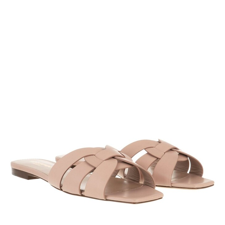 Schuh, Saint Laurent, Tribute Sandals Leather Nude