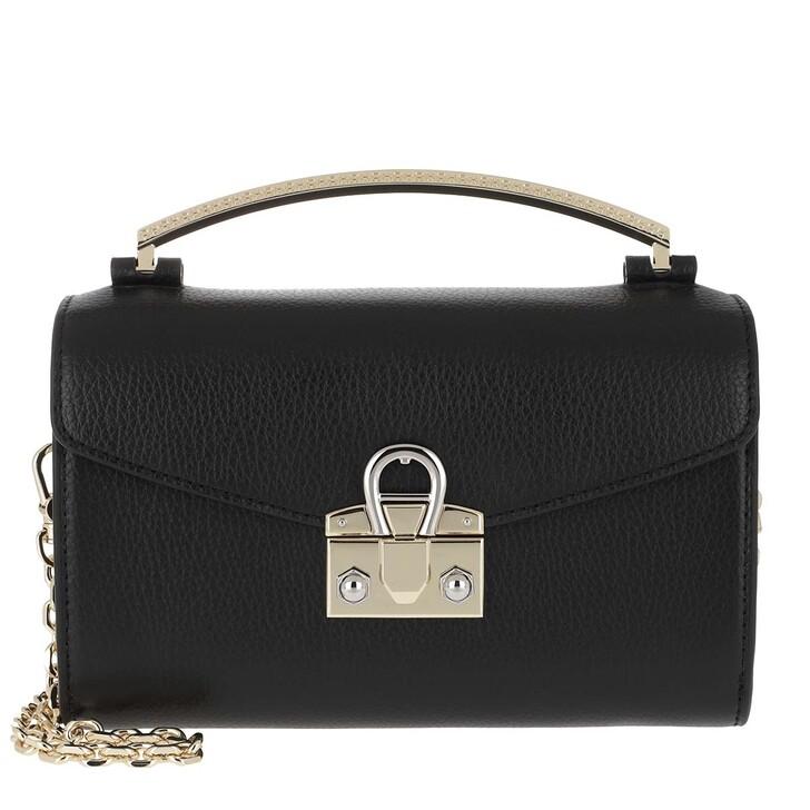Handtasche, AIGNER, Mini Bag Mina Black Coloured