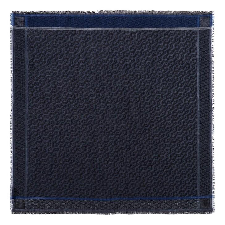 scarves, AIGNER, Logo Carré 100 x 100 cm Blue