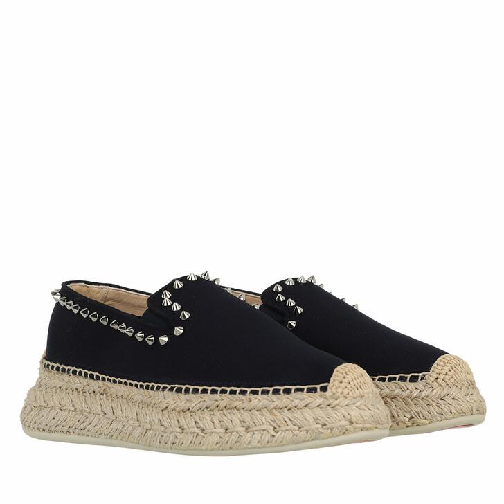 shoes, Christian Louboutin, Espaboat Braided Sole Espadrille Black