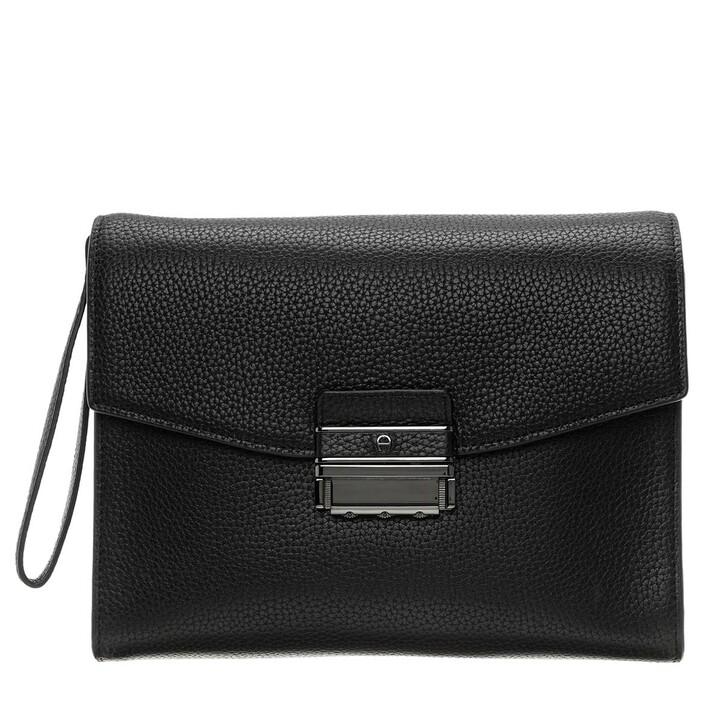 Handtasche, AIGNER, Luca Mens Bag Gun Metal