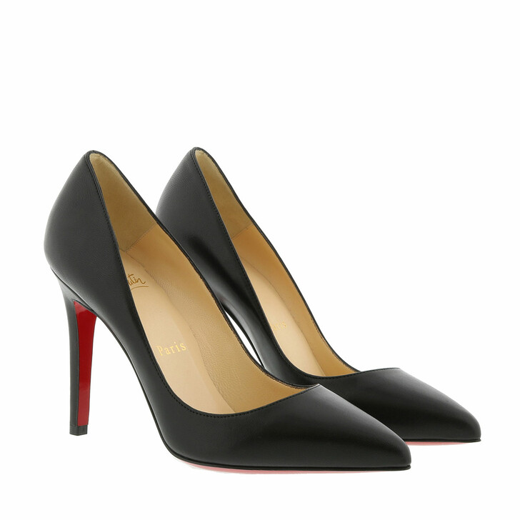 Schuh, Christian Louboutin, Pigalle 100 Shiny Nappa Leather Black