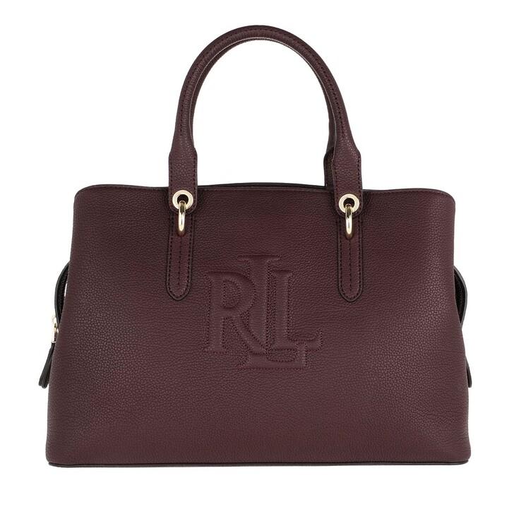 Handtasche, Lauren Ralph Lauren, Hayward Satchel Medium Bordeaux