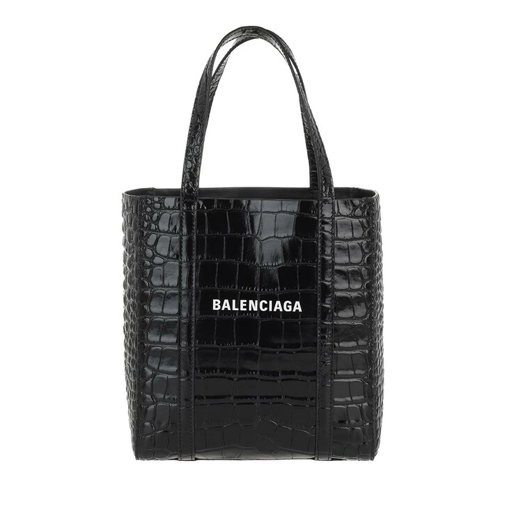 Handtasche, Balenciaga, XXS Everyday Tote Bag Croc Print Black