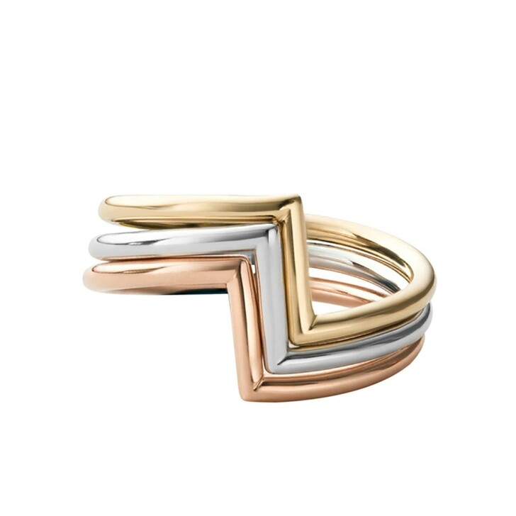 rings, Miansai, Arch Ring Set Polished Silver/Rose/Gold