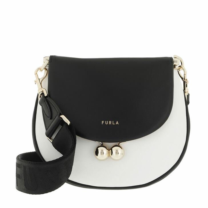 bags, Furla, Furla Portagioia Mini Crossbod Chalk+Nero