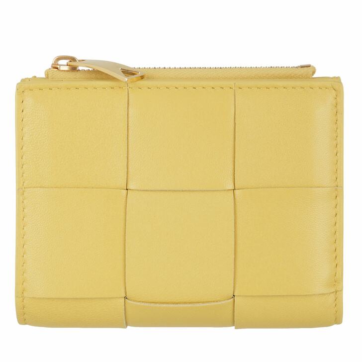 Geldbörse, Bottega Veneta, Fold Wallet Leather Buttercup