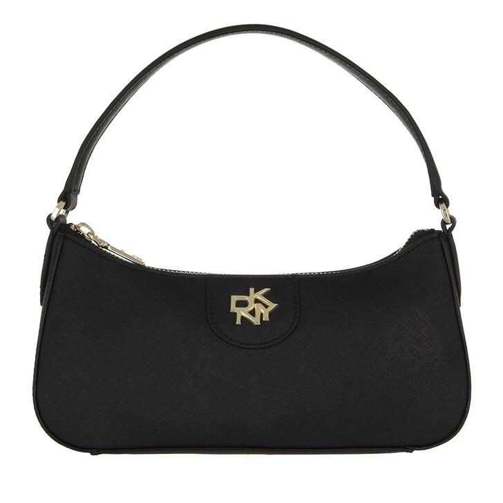 bags, DKNY, Carol Ew Baguette Black Gold
