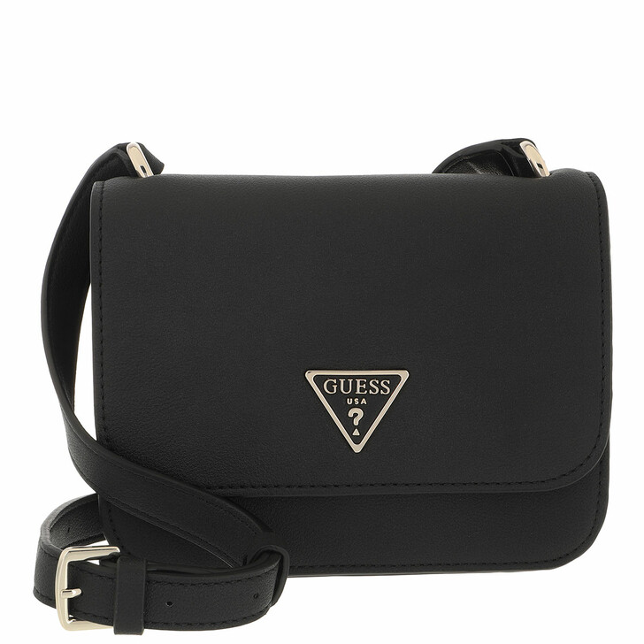 bags, Guess, Noelle Mini Crossbody Flap Black