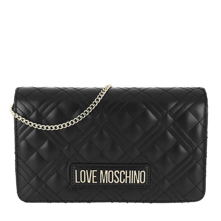 Handtasche, Love Moschino, Chain Crossbody Bag Quilted Nappa Nero