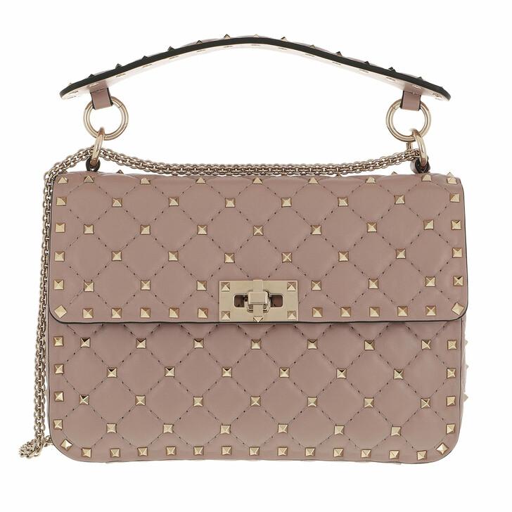 bags, Valentino Garavani, Rockstud Spike Crossbody Bag Medium Poudre