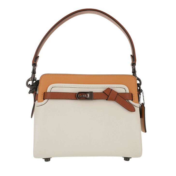 Handtasche, Coach, Colorblock Leather Tate Carryall Chalk Natural Multi