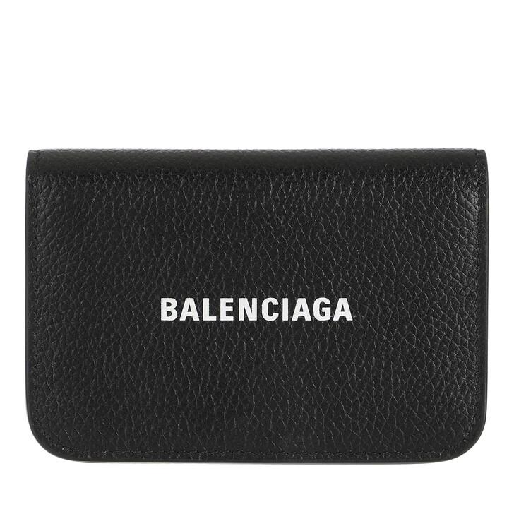 wallets, Balenciaga, Flap Card Holder Black White
