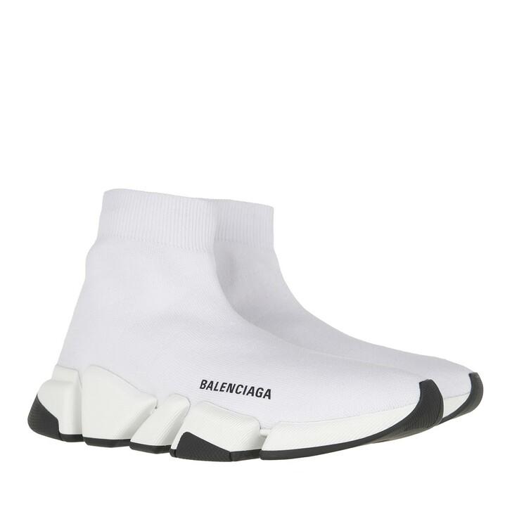 shoes, Balenciaga, Speed 2.0 Knit Sneakers White