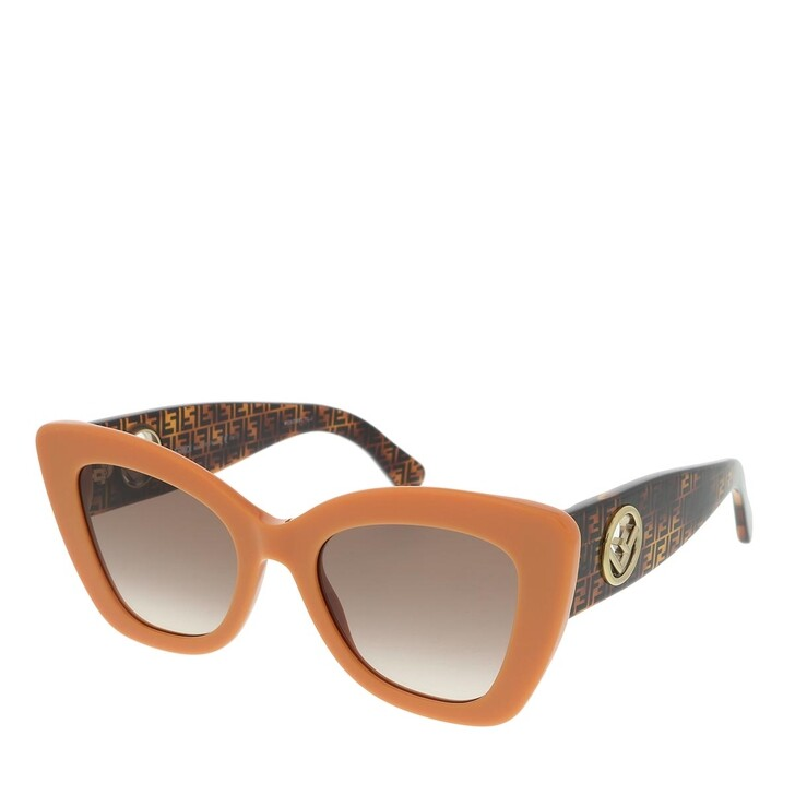 Sonnenbrille, Fendi, FF 0327/S Transparent Orange Havana