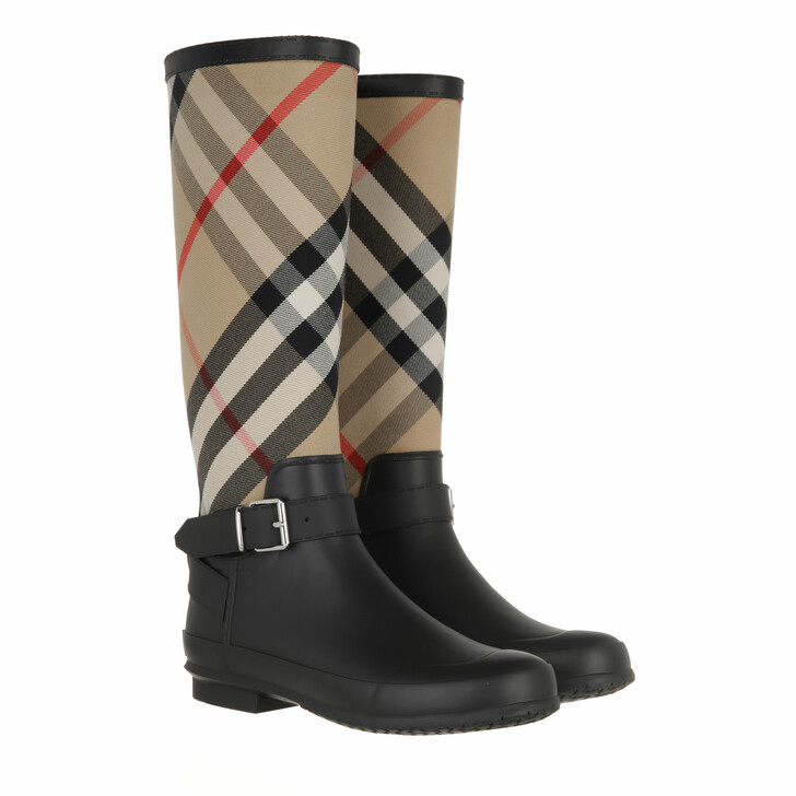 shoes, Burberry, House Check Boots Black