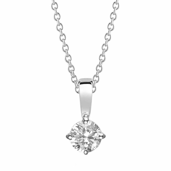 necklaces, Sif Jakobs Jewellery, Princess Piccolo Pendant And Chain 45 cm Sterling Silver 925