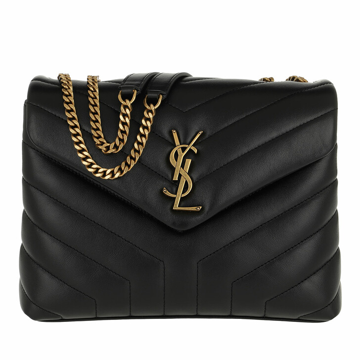 Handtasche, Saint Laurent, LouLou Shoulder Bag S Leather Black