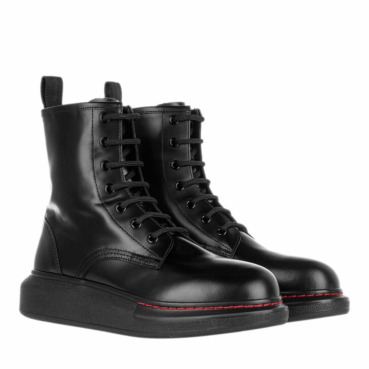 Schuh, Alexander McQueen, New Micmac Micro Boot Leather Black