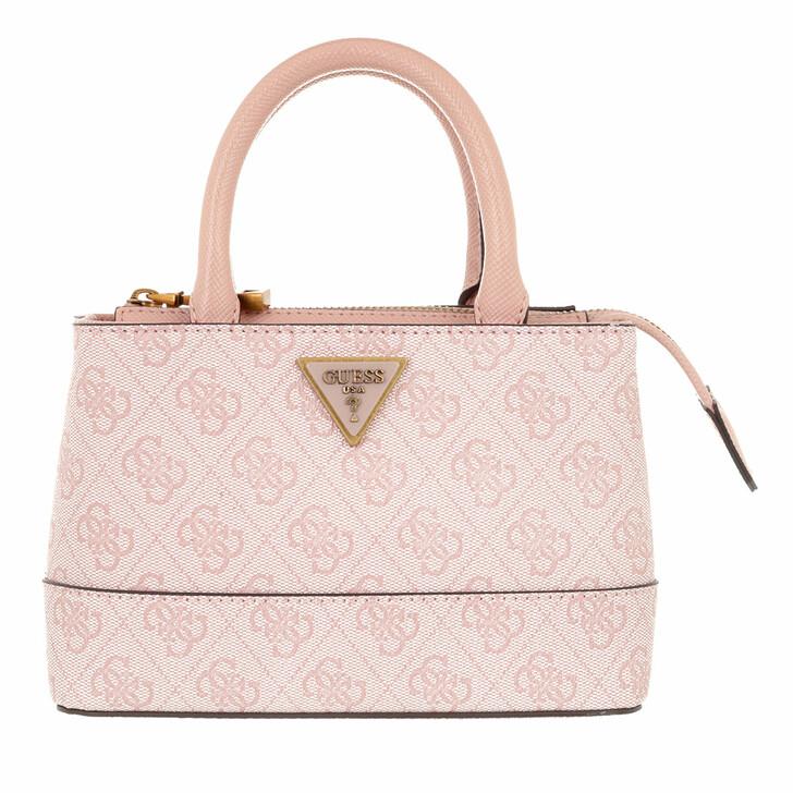 bags, Guess, Cordelia Logo Mini Satchel Blush Logo