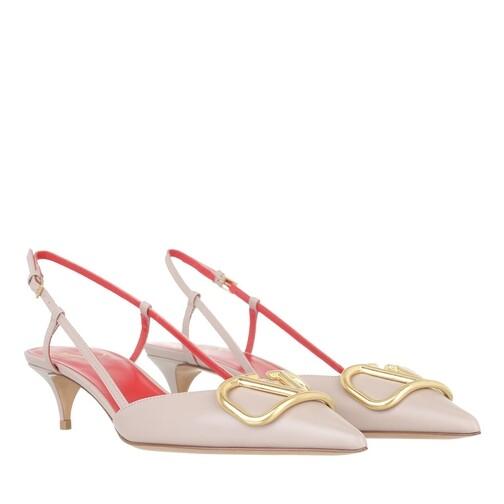 valentino garavani -  Pumps & High Heels - V Slingback Pumps Leather - in pink - für Damen