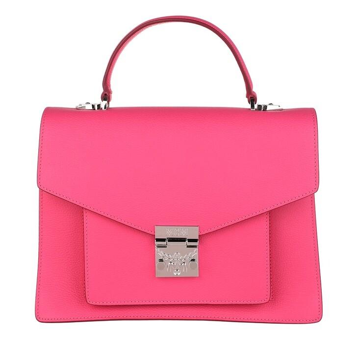 Handtasche, MCM, Patricia Satchel Medium Sugar Pink