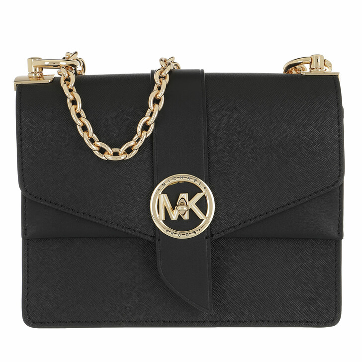 bags, MICHAEL Michael Kors, Greenwich Crossbody Handbag Leather Black