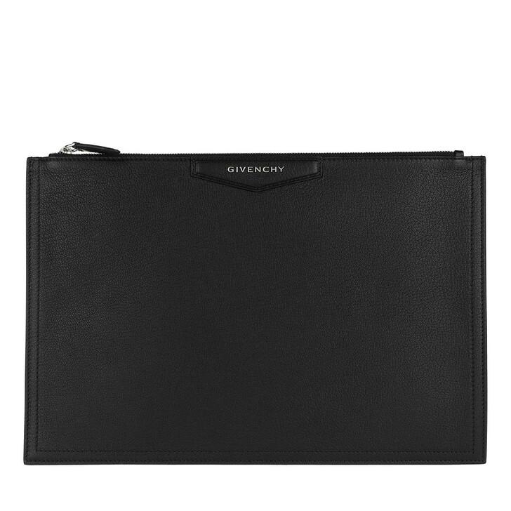 Handtasche, Givenchy, Antigona Pouchette Large Leather Black