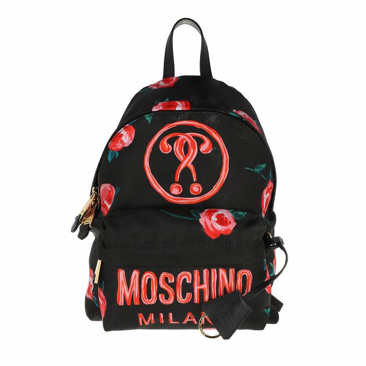 bags, Moschino, Backpack Fantasia Nero