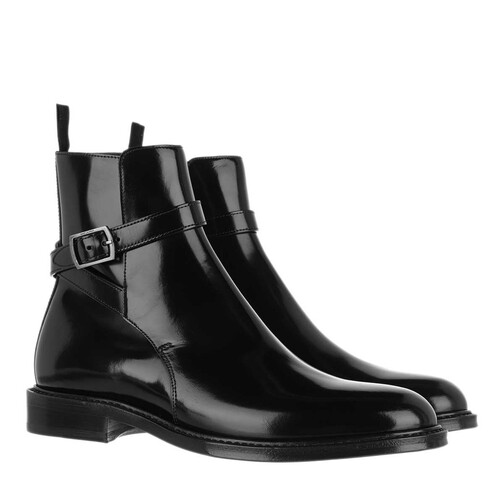 saint laurent -  Boots & Stiefeletten - Ankle Boot Leather - in schwarz - für Damen