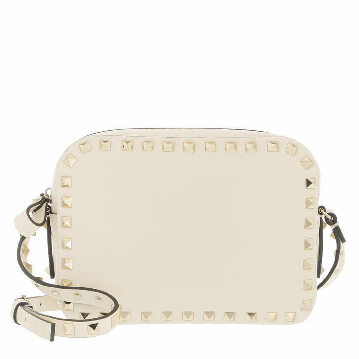bags, Valentino Garavani, Rockstud Camera Crossbody Bag Ivory