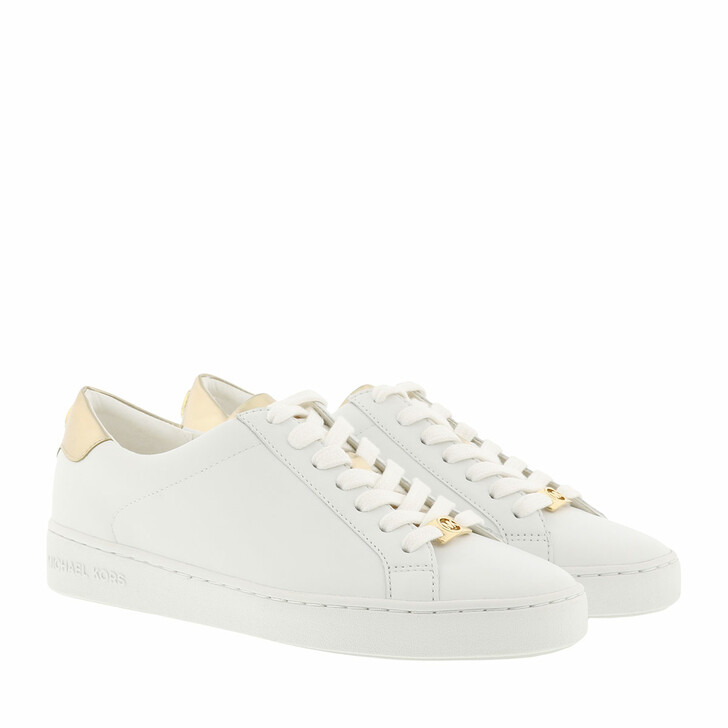 Schuh, MICHAEL Michael Kors, Irving Lace Up Sneaker Optic White/Pale Gold